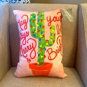 •Sara Berrenson• Christmas Cactus Pillow